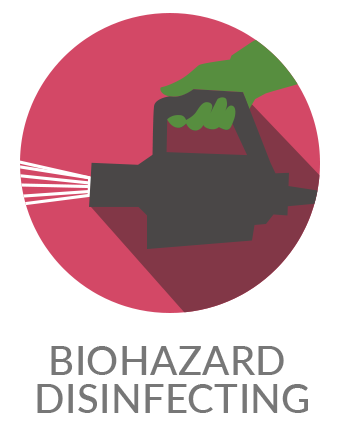 biohazard disinfecting icon